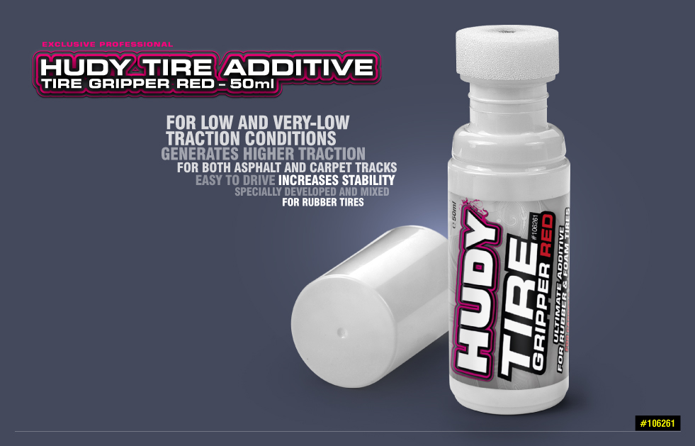 New HUDY Tire Additive - Tire Gripper Red - 50ml