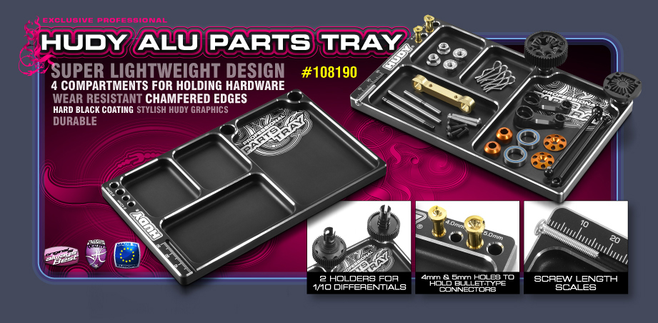 New HUDY Alu Parts Tray
