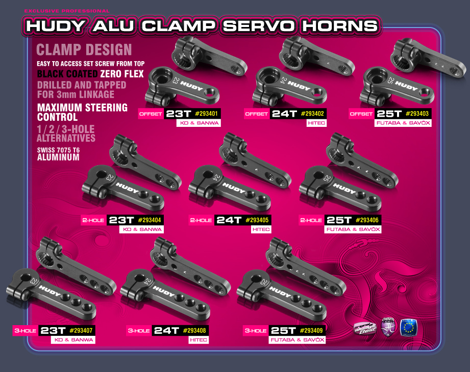 New HUDY Alu Servo Horns
