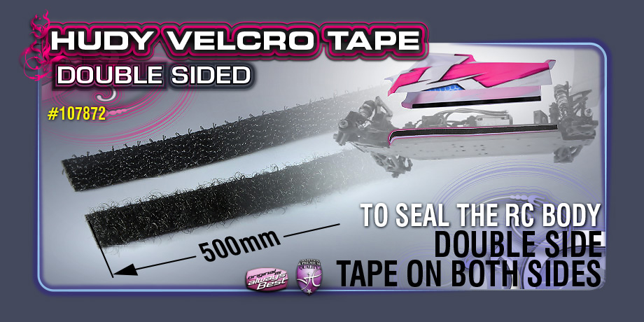 New HUDY Velcro Tape with Double-sided Tape