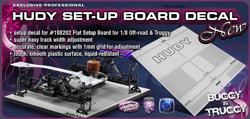 HUDY Set-Up Board Decal