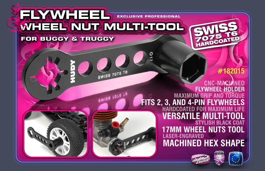 Hudy Flywheel - Wheel Nut Multi-Tool for Buggy & Truggy