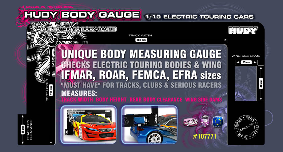 New Hudy Body Gauge 1/10 Nitro Touring Cars