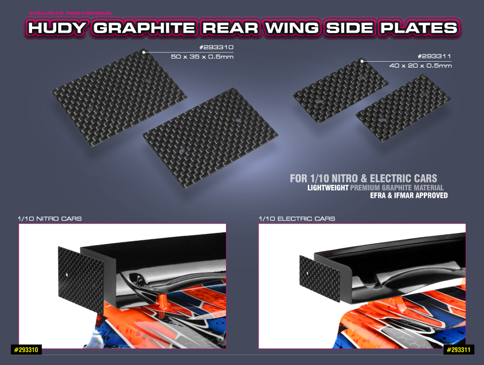 Graphite Rear Wing Side Plates.