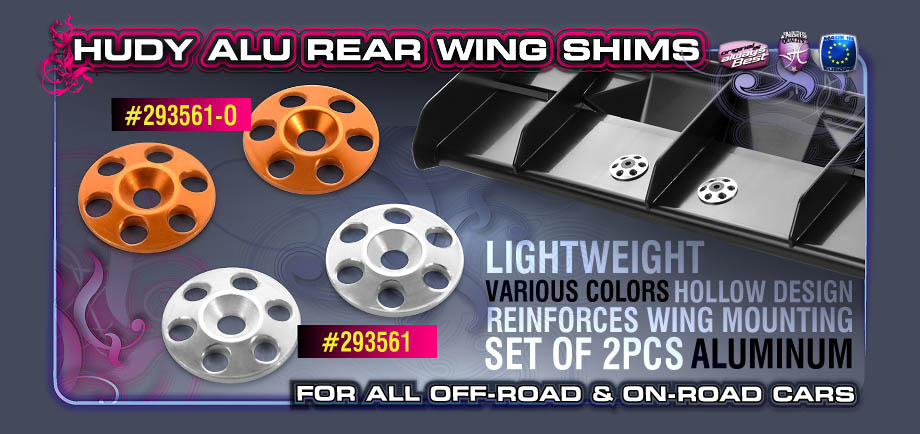 HUDY ALU REAR WING SHIMS